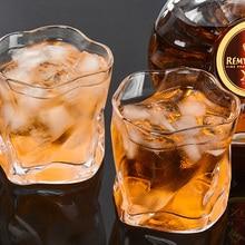цена на 250ml Wrinkle Whiskey Scotch Glass Irregular Crystal Wine Glass Drinking Glasses Glassware Dishwasher Safe Tumbler Beer Wine Cup