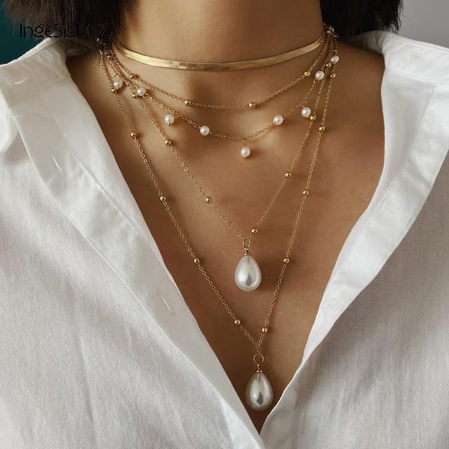 Bohemian Multi Layer Imitation Pearl Necklace 2