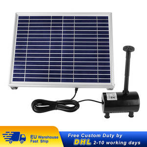 Solar-Fountain-Pump Garden-Decoration Solar-Panel Water-Pool Powered Fish 10W 1350l/H