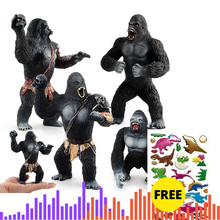 Gorilla King Kong Model Figure Action Toys Set Cartoon Simulation Animal Lovely Plastics Collection Toys For Kids boy girl gift