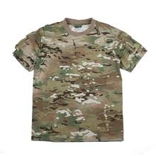 TMC Multicam Pocket Camouflage Outdoor Men Short Sleeve Top T shirt Tees(SKU051517)