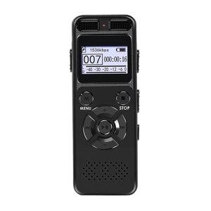 Image 3 - Enregistreur Audio activé par la voix numérique Dictaphone registraire MP3 HIFI stéréo 1536KPS WAV appareil denregistrement gris pour gris daffaires