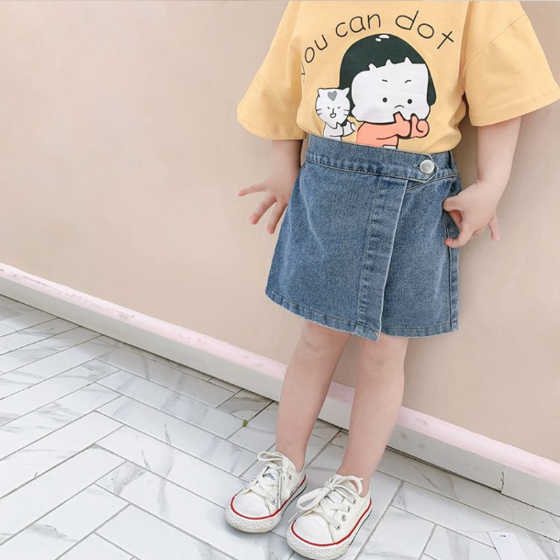 CROAL CHERIE   Kids Girls Pants Denim Jeans Shorts For Girls Shorts Skirt Toddler Trousers Fashion Kids Beach Short Pant 1