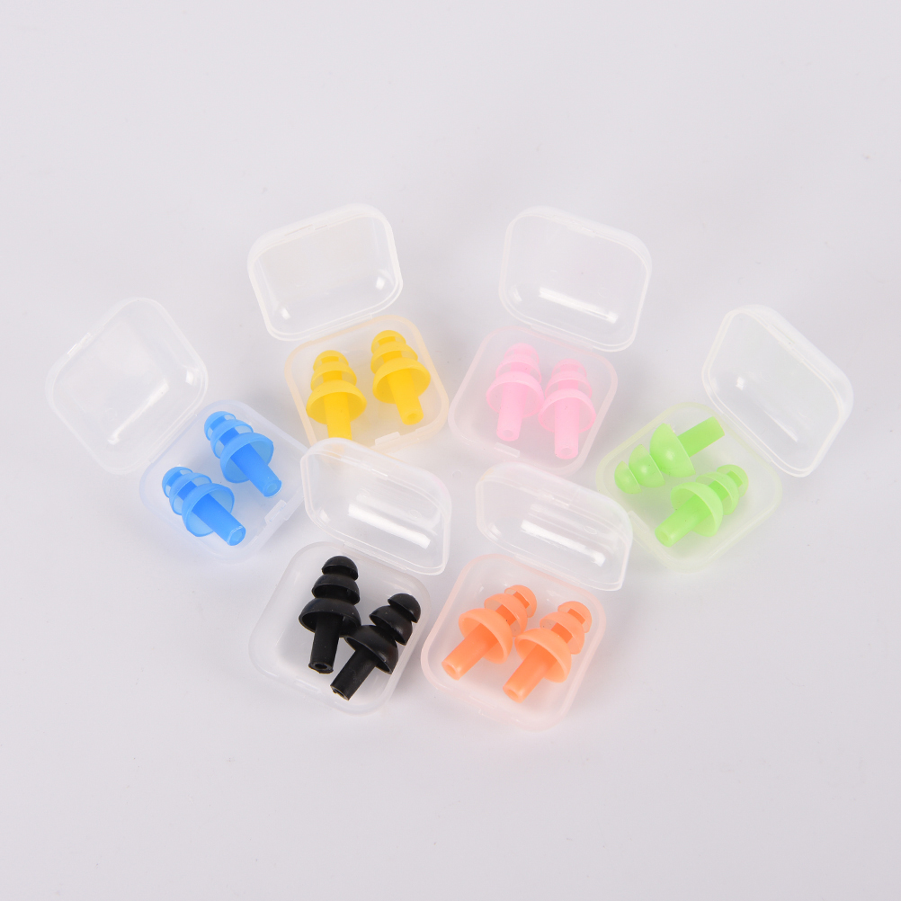 1 Pair Waterproof Swimming Silicone Swim Earplugs For Adult Swimmers Children Diving Soft Anti-Noise Ear Plug Study Sleeping
