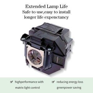 Image 3 - استبدال العارض مصباح EX9210 EX9220 EX3260 EX5260 EX7260 PowerLite 1266 1286 ل ELPLP96/V13H010L96 مع الإسكان