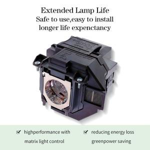 Image 3 - Yedek projektör lambası EX9210 EX9220 EX3260 EX5260 EX7260 PowerLite 1266 1286 ELPLP96/V13H010L96 konut ile