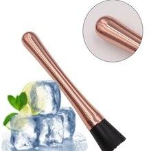 New Stainless Steel Cocktail Muddler Mojito Mixer Bar Barware DIY Drink Fruit Crushed Ice Tool