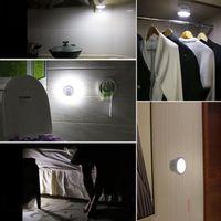 Night Light Motion Sensor Lamp Wall Mount 360 Degree Rotating LED Nightlight Movement Induction Lighting Home Garage Kitchen Sta