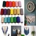 100 м поводок для шитья хлопок макраме шнур 2 мм ремесла Сделай Сам цветная нить строка ручной Шпагат Веревка Текстиль для дома украшения