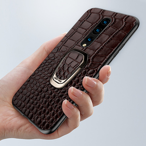 Image 3 - Genuine Leather Ring bracket Magnetic phone case for oneplus 7 7pro 6 6T Luxury cover for One plus 7 7t pro 5 5t case Fundas