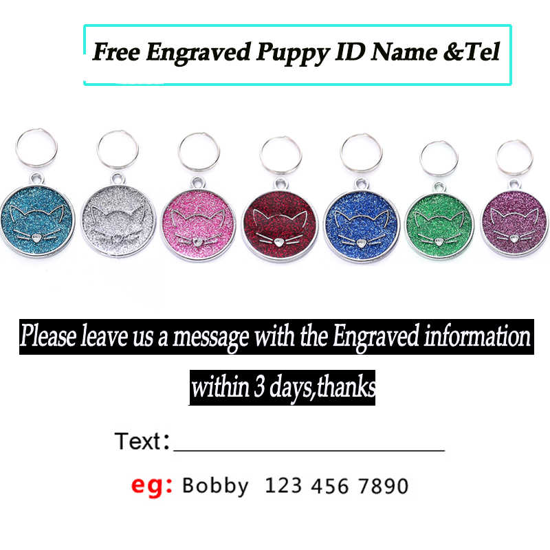 Pribadi Kucing Anjing ID Tags Kustom Ukiran PET ID Tag Kerah Puppy Papan Nama Telphone Anti-Lost Liontin Kecil anjing Anjing Sedang