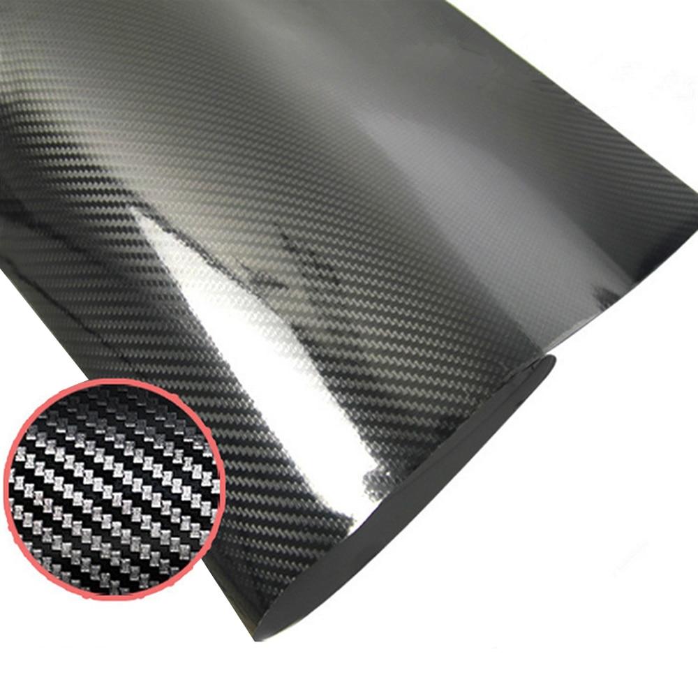 5D Carbon Fiber Car Body Film Vinyl Self Adhesive Wrap Sticker Decal Air Release Black Automotive Accessories Car-styling
