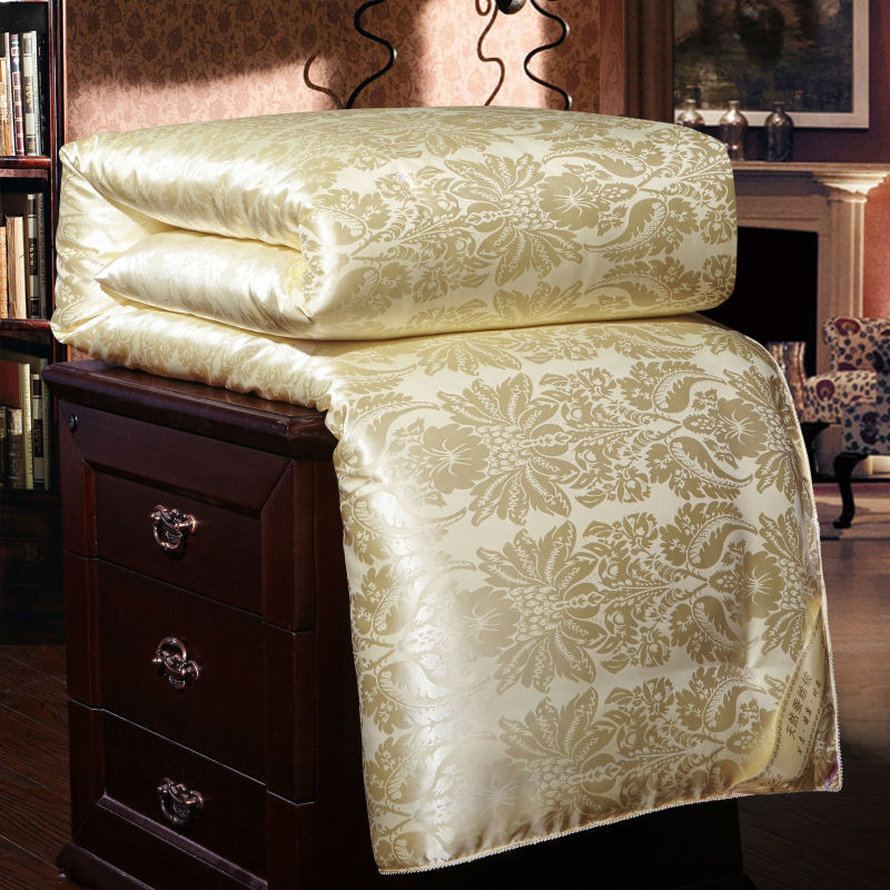 100% Luxury Chinese Silk Quilt Mulberry Comforter Duvet Quilt Blanket Winter Summer Pure Silk Blanket Comforters King Queen Twin