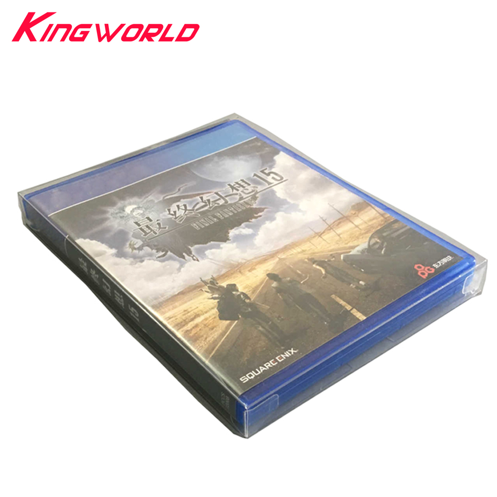 10pcs Transparent Clear Display Box For Playstation PS4 Game Card Collection Storage Case PET Protective Box