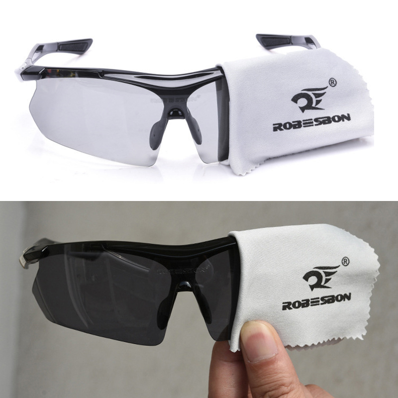 Photochromic Riding Glasses 3 Lenses Cycling Glasses Men Women Outdoor MTB Bicycle Sunglasses Goggles Bike Eyewear 9 Piece Set|Cycling Eyewear| |  - title=