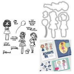 Girlfriend Metal Cutting Dies And Stamps Diy Scrapbooking Photo Album Decorative Embossing Paper Card New Cutting Dies For 2021