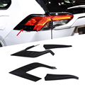 4 шт. задний фонарь Накладка черный цвет Стайлинг автомобиля для Toyota RAV4 2019 2020