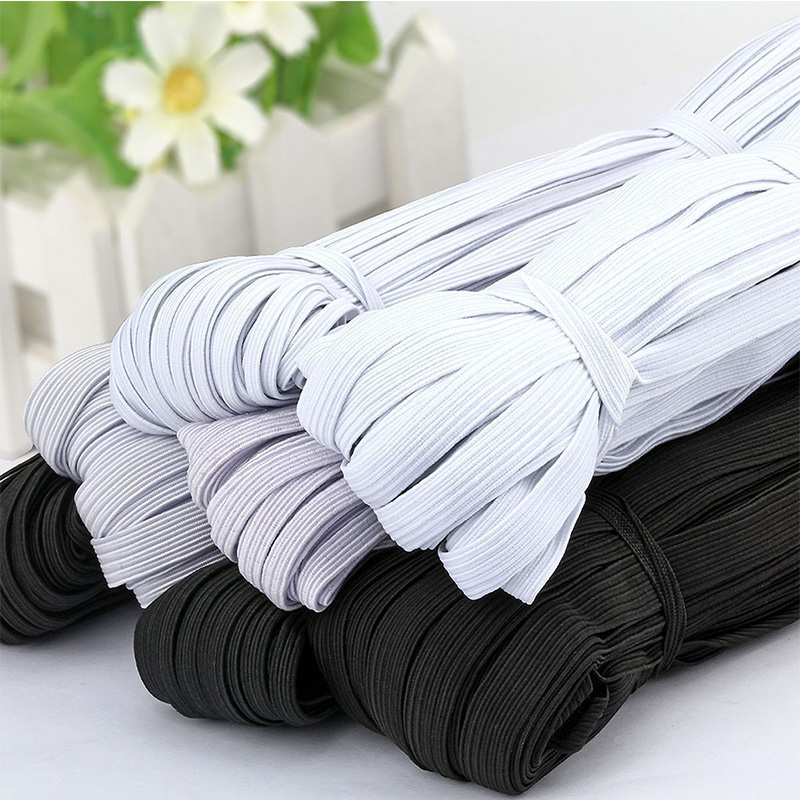 10meters/lot W 6/20/25/30/35/40/45/50MM Nylon Highest Elastic Bands for Masks Flat Tape Webbing Trousers Sewing Accessories