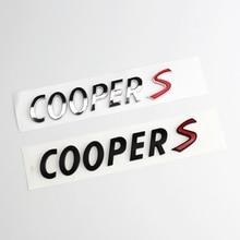 3D ABS Araba Çıkartmaları Arka Gövde Amblem Rozeti Harfler Çıkartmaları Mini Cooper S R55 R56 R57 R58 R59 r60 R61 F54 F55 F56 F60
