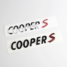 3D ABS Xe Ô Tô Phía Sau Thân Cây Đuôi Quốc Huy Huy Hiệu Chữ Tường Cho Mini Cooper S R55 R56 R57 R58 R59 r60 R61 F54 F55 F56 F60