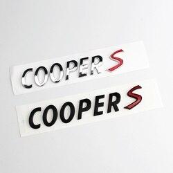 3D ABS naklejki samochodowe tylna lampa bagażnika samochodu znaczek z symbolem litery naklejki dla Mini Cooper S R55 R56 R57 R58 R59 R60 r61 F54 F55 F56 F60 w Naklejki samochodowe od Samochody i motocykle na