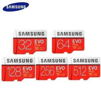 SAMSUNG Memory Card Micro SD Card 256GB 32G 64GB Microsd 8GB 16GB 128GB 512G SDHC SDXC Grade EVO+ C10 UHS TF SD Cards