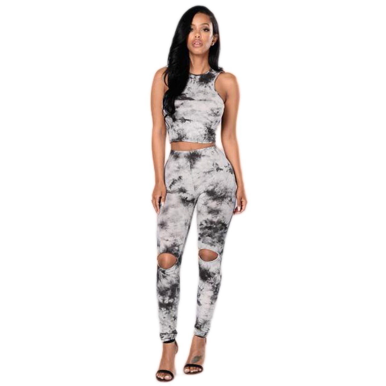 M302 Summer WOMEN'S Dress Separate Station Hot Selling Classic Ink Painting Printed Set Hot Selling