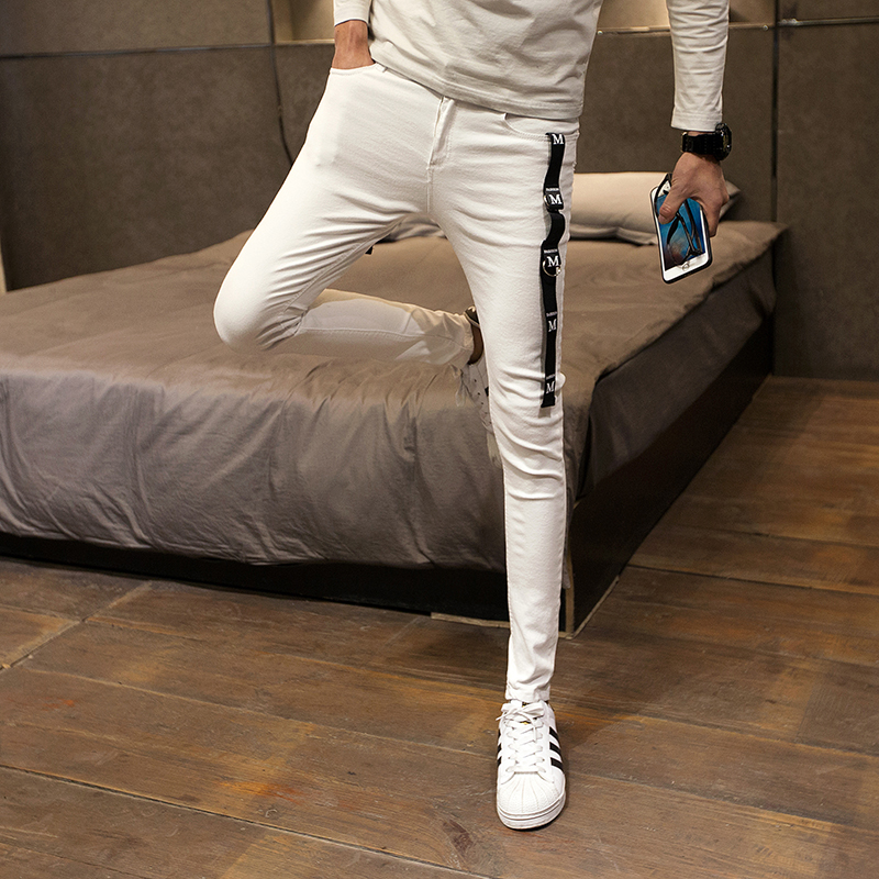 Korean Skinny Jeans Men Fashion 2020 Spring Slim Fit Plain Mens Jeans Casual Simple All Match Streetwear Denim Pants Men 34-28