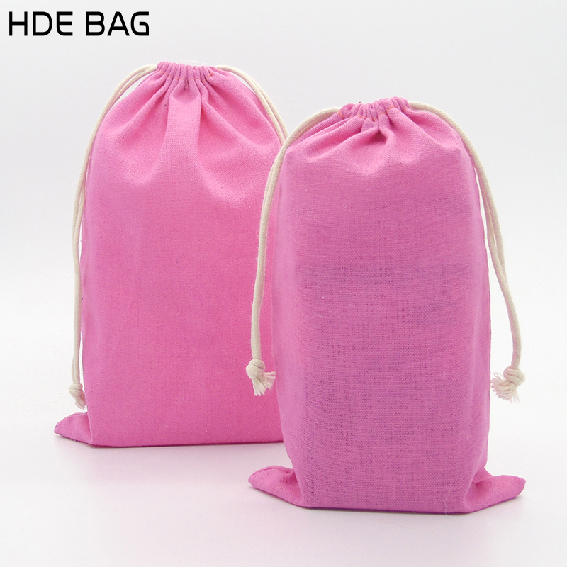 Linen Bag For Packaging Jewelry/Makeup/Gift/Wedding/Party/Storage/Hair/Shoe Bags Drawstring Dustproof Pouches Print Logo Custom