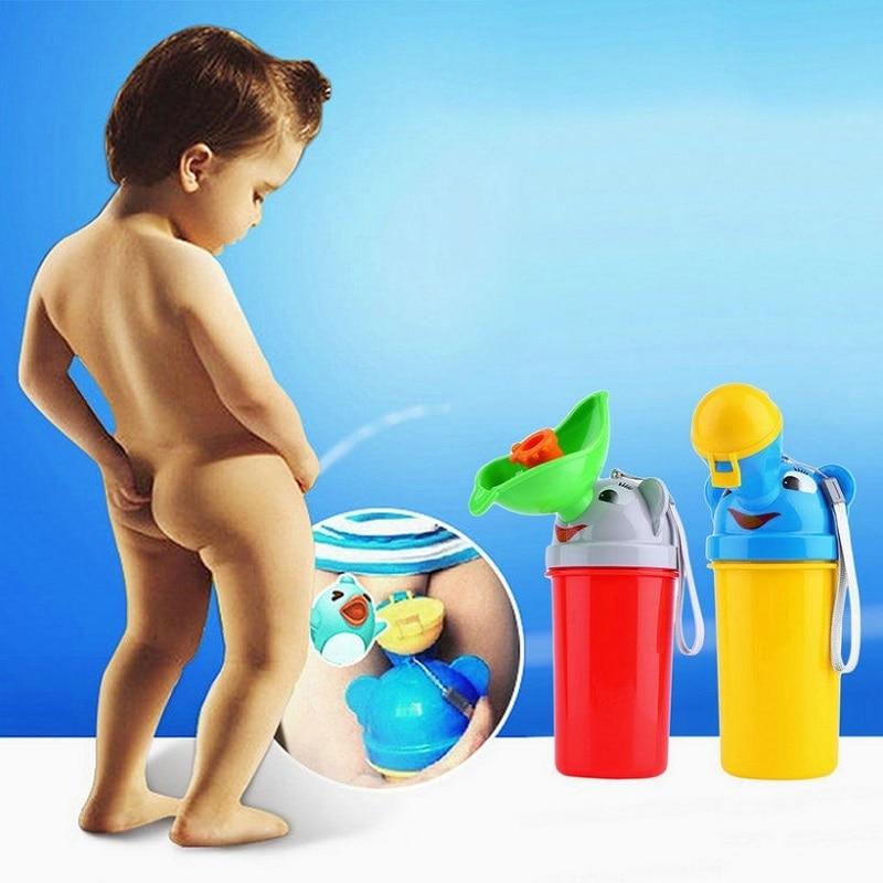 1pc Portable Convenient Travel Cute Cartoon Baby Urinal Kids Potty Girl Boy Car Toilet Vehicular Urinal Traveling Urination