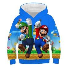 Ultime Harajuku giochi Classici di Super Mario bambino Ragazzi e ragazze felpe con cappuccio Super Smash Bros 3D t-shirt hip hop streetwear