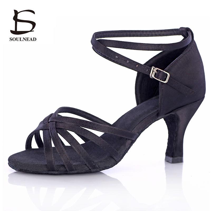 Salsa latina sapatos de dança para as meninas das mulheres tango sapatos de dança de salão de baile sapatos de salto alto macio 5/7cm sandálias de dança de salão