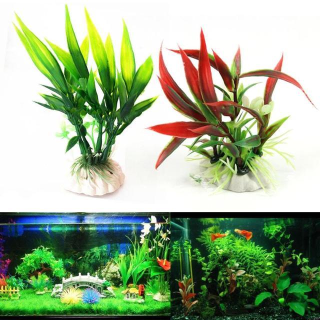 Artificial Aquarium Plant Decoration Fish Tank Submersible Flower Grass Decor Ornament For fish tank Decor Pet Supplies 5