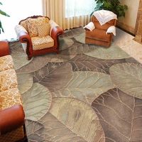 ALITEXTILEBTOC 100% Wool Carpets large Size Antiskid Floral Carpets For Living Room Abstract Custom to size
