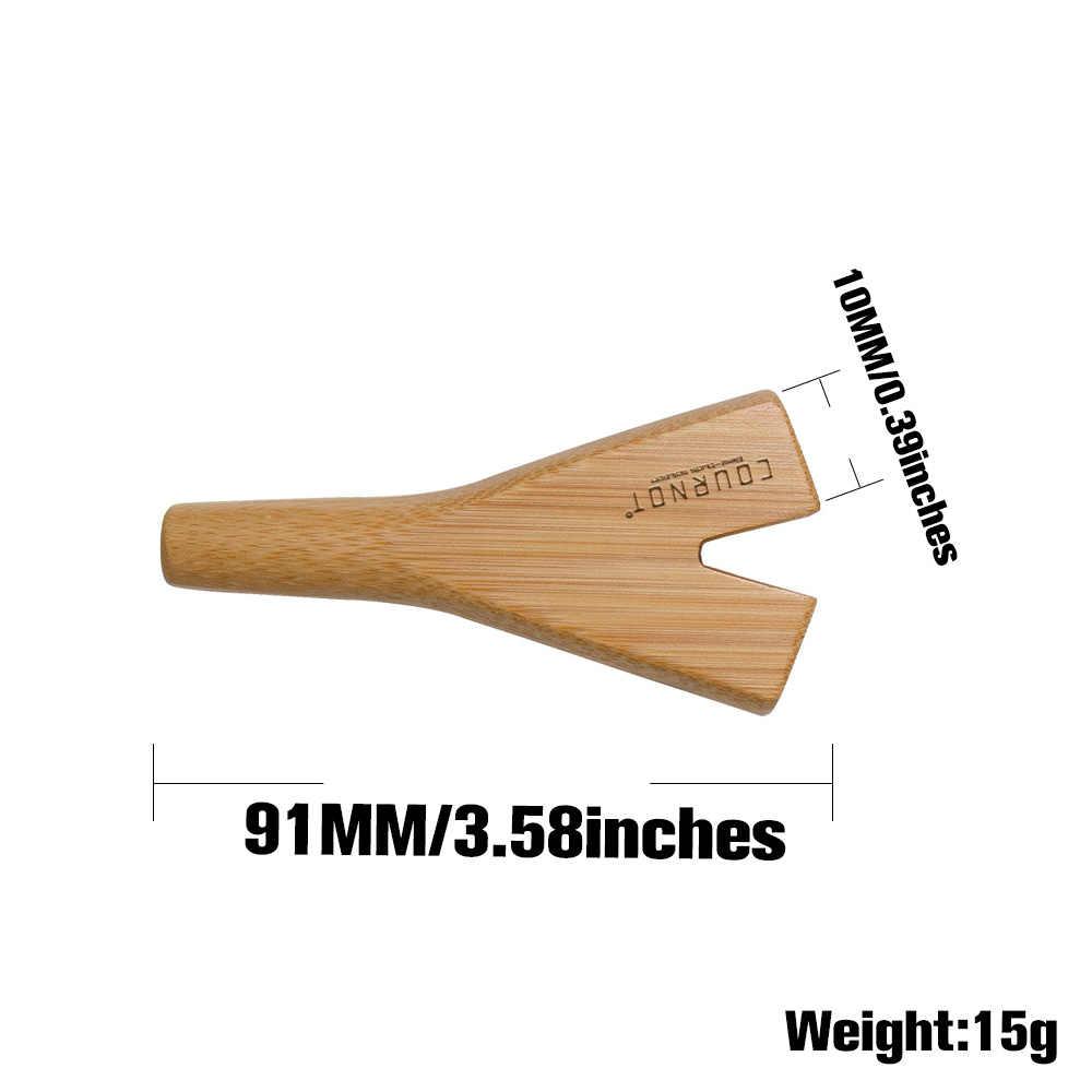 COURNOT 竹喫煙ホルダーパイプダブルバレル竹シガーホルダーのためのスーパーナチュラルコーン 91 ミリメートルタバコ手パイプ