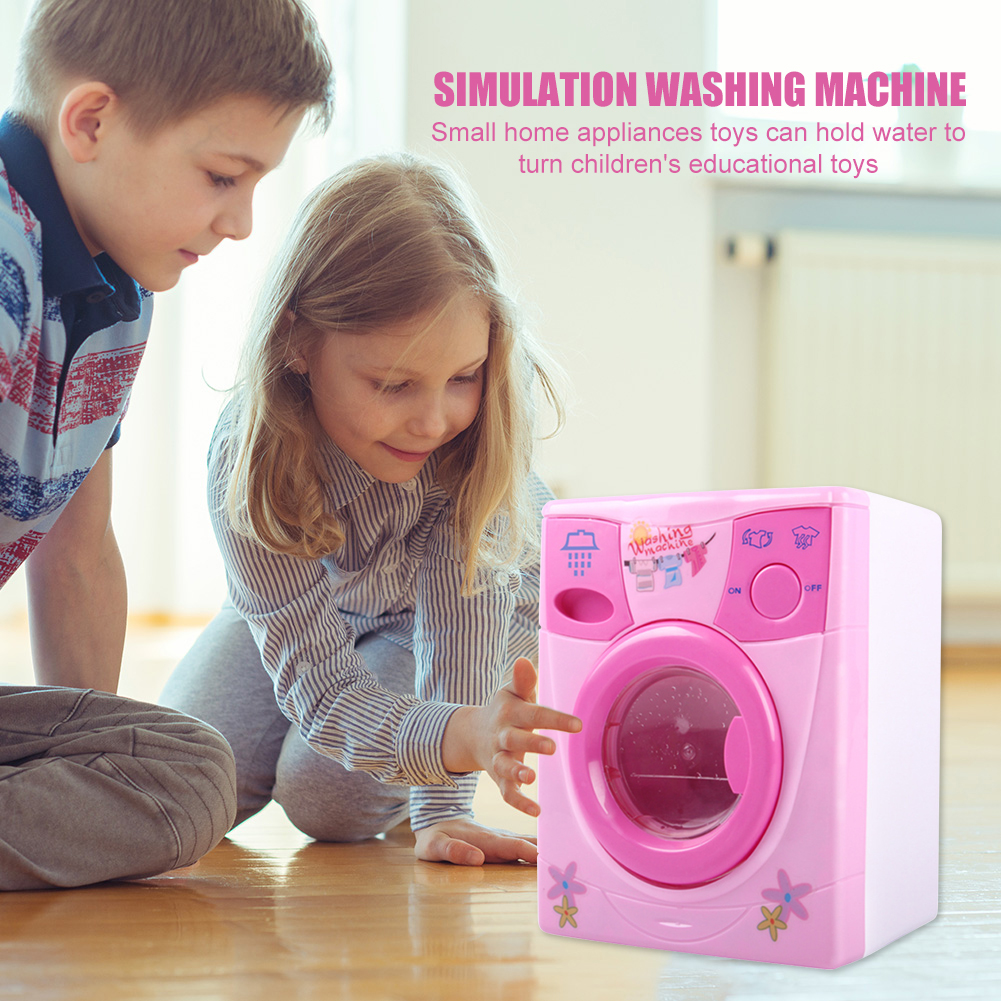 Electronic Simulation Washing Machine Toys Children Mini Pretend Play Toy Kids Pretend Play Toys Small Appliances