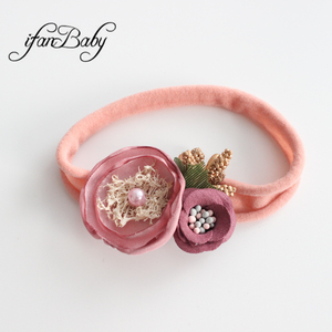 Chic Burn flower headband Women Girl hair band nylon heaband accessories(China)
