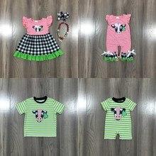 Children Boys Dress Milk Silk Boutique Baby-Girls Summer Shorts-Set Pink Cotton Romper