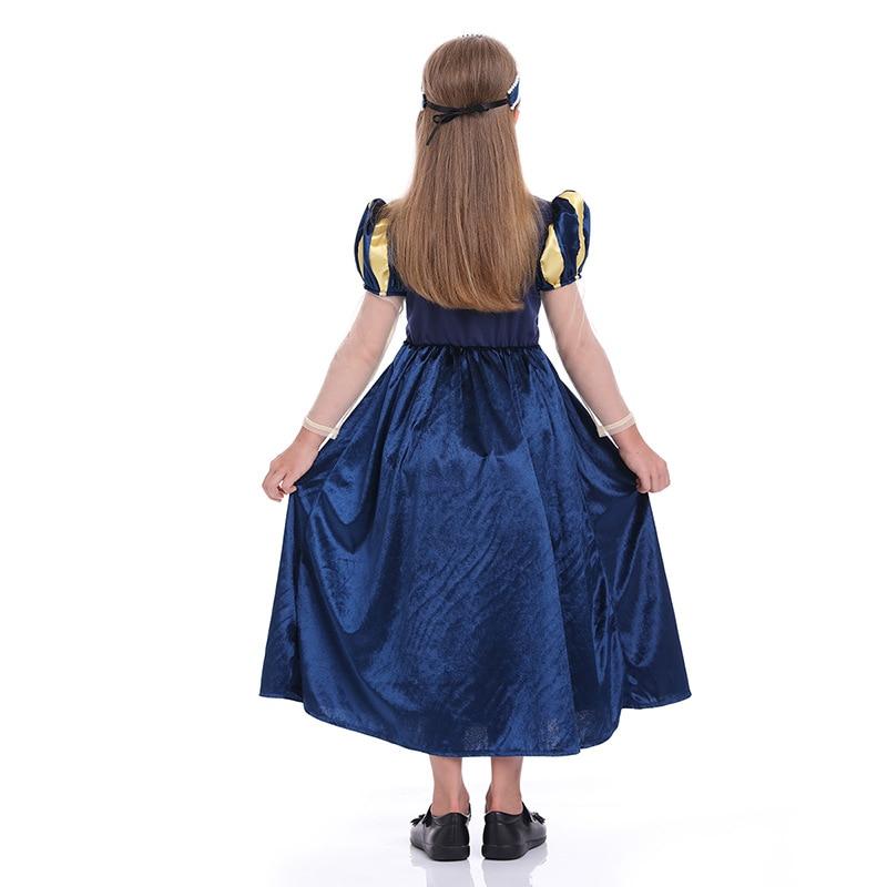 Abiti da ragazza retrò corte abito da festa principessa per bambini Snow Queen costumi infantili abiti da festa carnevale di Halloween