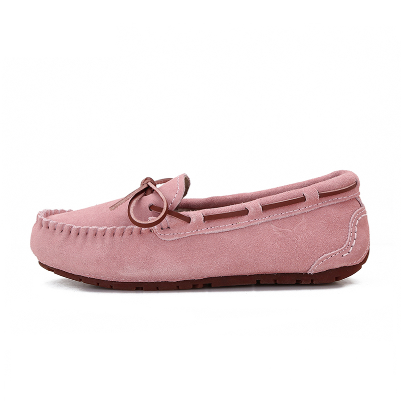 Women Flats Sneakers Loafers Moccasins Spring Slip-On Autumn Genuine-Leather Ladies New
