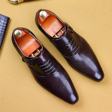 carve patterns or designs on woodwork restoring ancient ways of leisure breathable leather shoes issuing formal shoes(China)