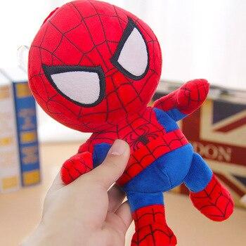 27cm Man Spiderman Plush Toys Movie Dolls Marvel Avengers Soft Stuffed Hero Captain America Iron Christmas Gifts for Kids Disney 4