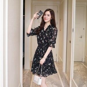 Image 2 - Plusขนาดฤดูร้อนVintageชีฟองดอกไม้Bohoชุดเสื้อ2020ผู้หญิงเกาหลีElegant Party Mini Dresses Casual Sun Beach Vestidos