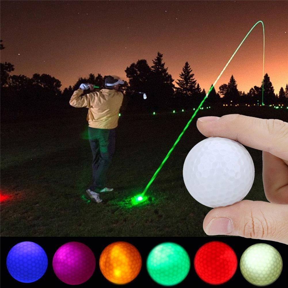 1Pc Electronic Bright LED Lighting Golf Ball Dark Night Sport Practice Training