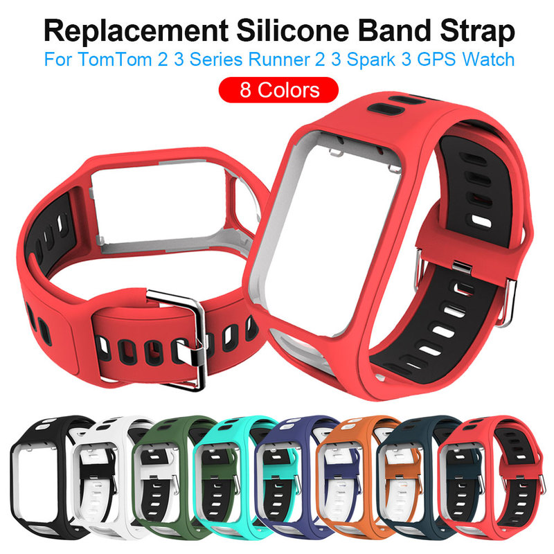 Replacement Silicone Band Strap For TomTom Runner 2 / 3 Spark/3 Sport GPS Watch Water Resistant Smart Watch Strap Accessories