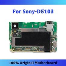 Sony Xperia için T3 D5103 anakart 8GB ROM 100% orijinal anakart Android OS mantık kurulu cips ile