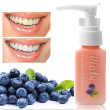 Natural Blueberry Press Toothpaste Baking Soda Stain Remover Teeth Whitening Oral Care 30ml/ 100ml