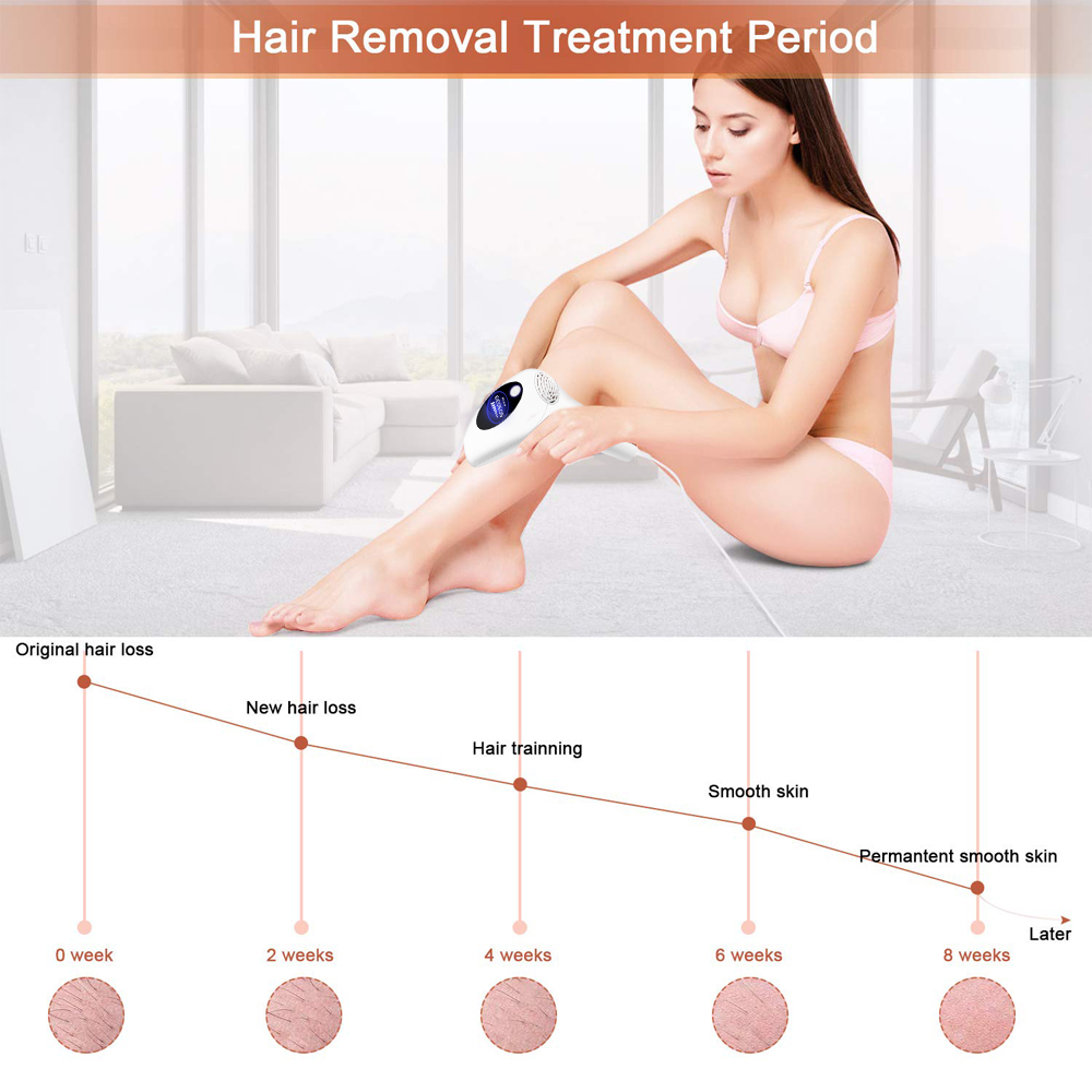 Laser Epilator Bikini Hair-Removal IPL Flashes Permanent Dropship Painless 900000 New