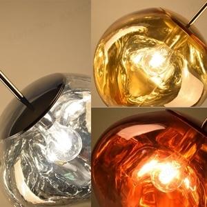 Image 4 - Bdbqbl北欧溶岩溶融ガラス玉のペンダントライトランプ現代ファンタジー魔法hanglampボール透明カフェレストランバー