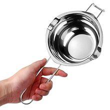 Горшок из нержавеющей стали для плавления воска с длинной ручкой, инструмент «сделай сам» для мыла, ароматизированного свечи, шоколадного м...